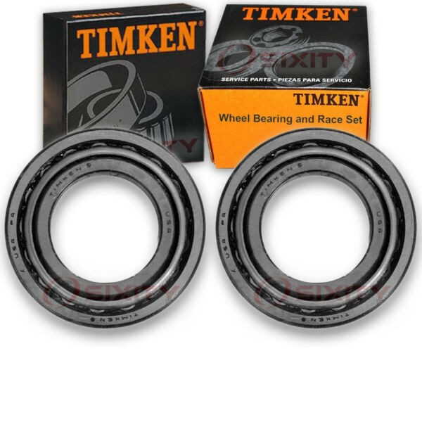 Timken Rear Wheel Bearing & Race Set for 1975 Plymouth PB100 Pair Left Right qy