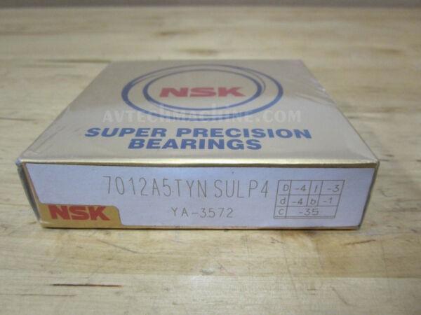NSK Precision Angular Contact Bearing 7012A5TYNSULP4