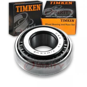 Timken Rear Outer Wheel Bearing & Race Set for 1985-1988 Pontiac Sunburst  uo