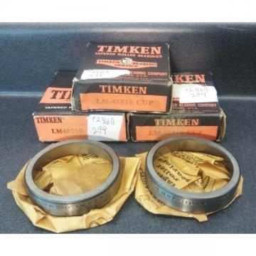 (LOT OF 7) LM48510 Timken LM48510 Bearing cups