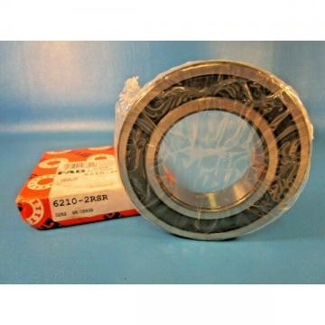 FAG 6210 2RSR, 2RS Single Row Radial Bearing, Double Sealed (INA,SKF, RBC)