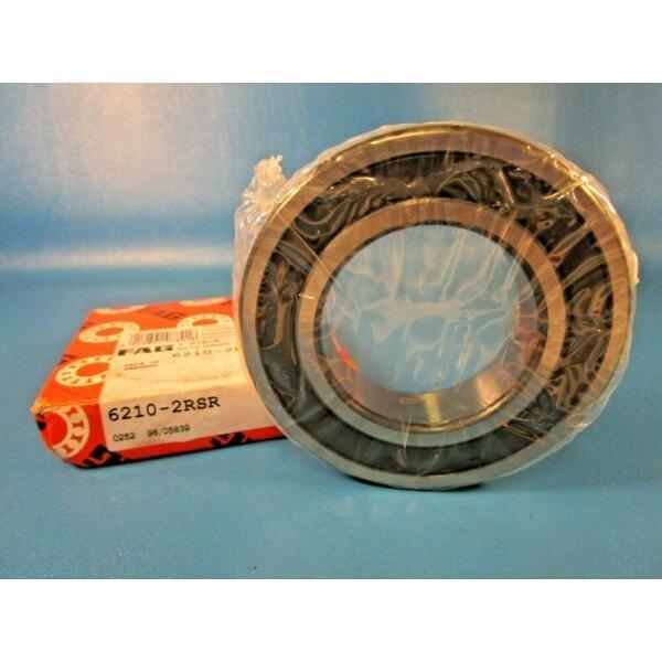 FAG 6210 2RSR, 2RS Single Row Radial Bearing, Double Sealed (INA,SKF, RBC) #1 image