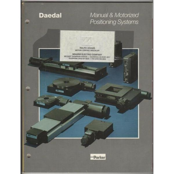Daedal Manual & Motorized Positioning Systems Catalog Parker Hannefin (1991) #1 image